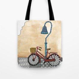 Bicycle on the El Camino Real Tote Bag