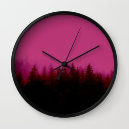 Alaskan Fog 0388 - Raspberry Wall Clock