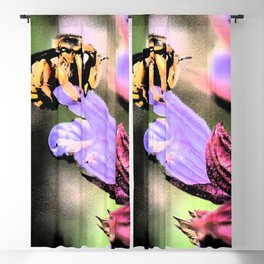 Bee and Flower Blackout Curtain