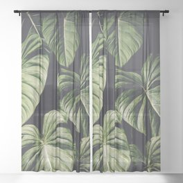 Monstera America Sheer Curtain