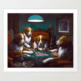 Cassius Marcellus Coolidge Dogs Playing Poker Art Print