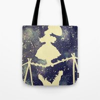haunted mansion Tote Bags featuring Haunted by Kayleigh Kirkpatrick