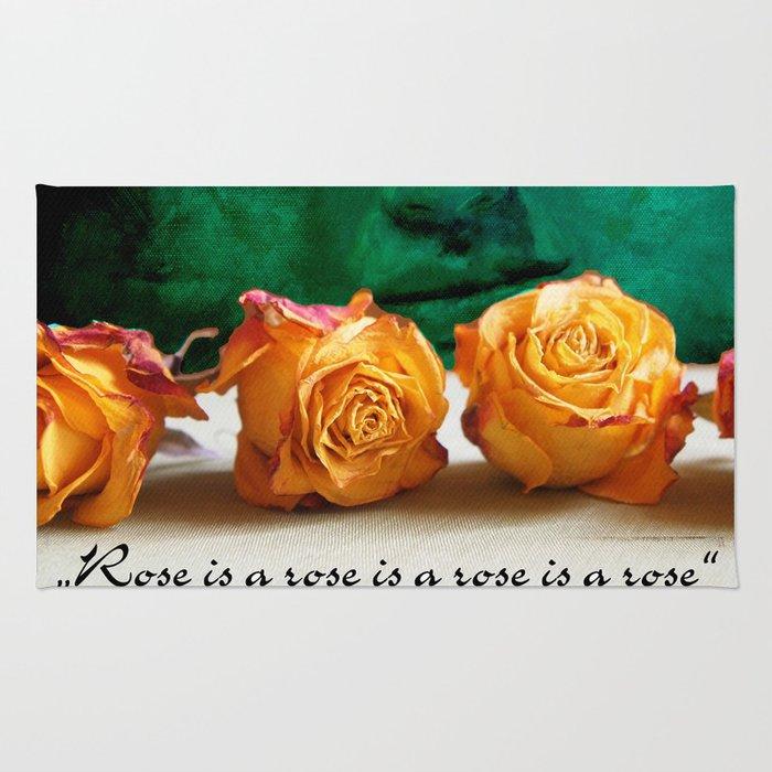 ROSE - quote Rug