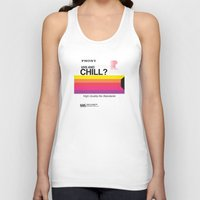 chill Tank Tops featuring VHS and Chill by Anthony Troester