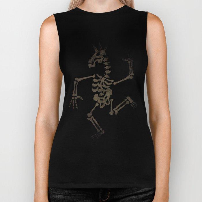 Skeleton Unicorn Dance 2 Biker Tank