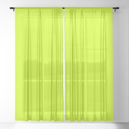Bright green lime neon color Sheer Curtain