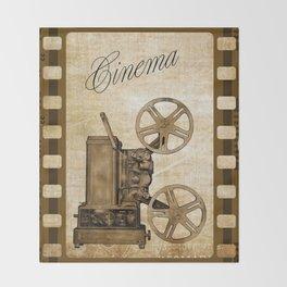 Old Cinema Reels Throw Blanket