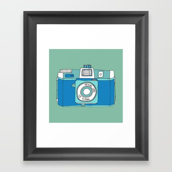 Holga Camera in Blue Framed Art Print
