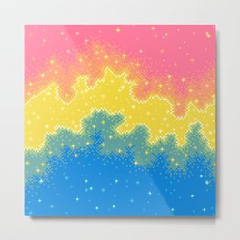 Pan Pride Flag Galaxy Metal Print