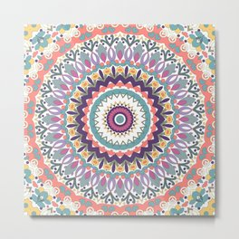 Bloom Mandala Metal Print