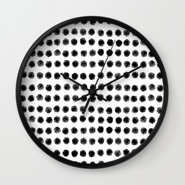 minimal watercolour dot pattern  Wall Clock
