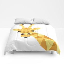 a giraffe Comforters