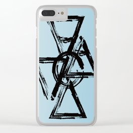 Elements 1 Black Clear iPhone Case