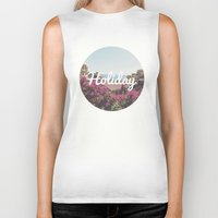 holiday Biker Tanks featuring Holiday by Laure.B