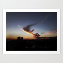 Cloud Angel Art Print