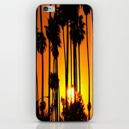 Striped Sunset iPhone Skin