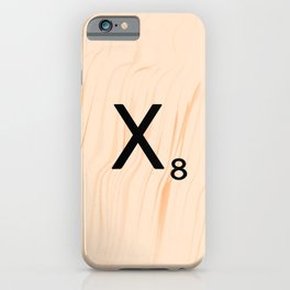 Scrabble Letter X - Scrabble Art and Apparel iPhone Case