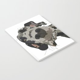 Great Dane dog in your face Notebook