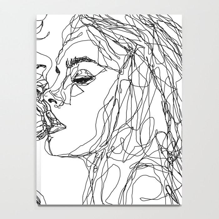 kiss more often (B & W) Notebook