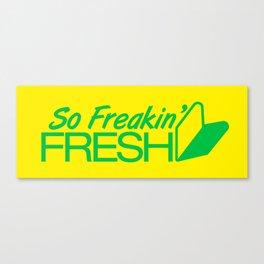 So Freakin' Fresh v2 HQvector Canvas Print