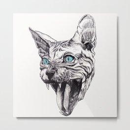 Sphynx Cat Metal Print