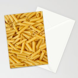 Raw penne pasta Stationery Cards