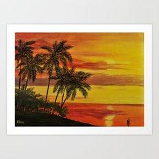 MAUI SUNSER Art Print