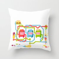 food Throw Pillows featuring Food by Fightstacy