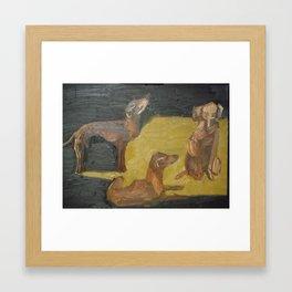 The dogs Framed Art Print