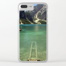 Boats on glass Clear iPhone Case