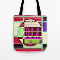 cocaine Tote Bags featuring Cola - Vintage Soft Drink by Fernando Vieira