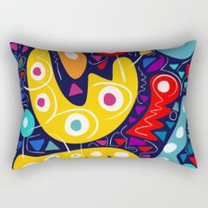 Night Life Abstract Art pattern decoration Rectangular Pillow