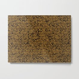 Beautiful HOME - knitted texture patterns Metal Print