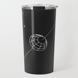 artificial body placed in orbit Travel Mug