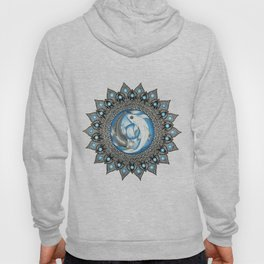 Yin and Yang Butterfly Koi Fish Mandala Hoody
