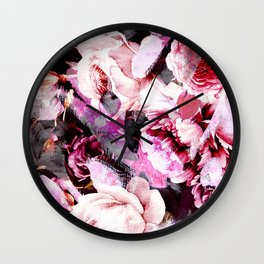 Roses in abstraction Wall Clock