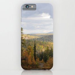 Landscape of sub-polar ural mountains iPhone Case