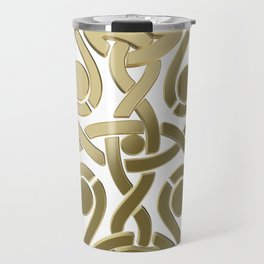 Celtic golden knot Travel Mug