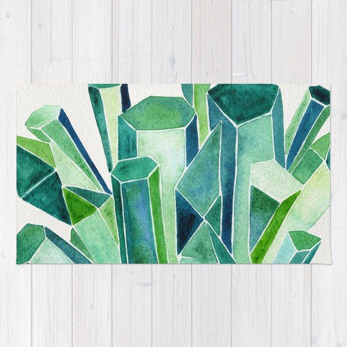 Emerald Watercolor Rug