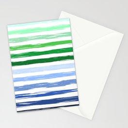 Colorful stripes pattern Stationery Cards