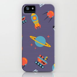 Space seamless pattern iPhone Case