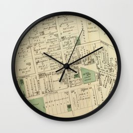 Vintage Map of Rockville MD (1878) Wall Clock