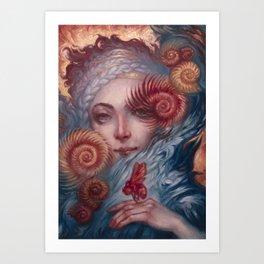 Lady Nautilus and Companion by Kristina Carroll Art Print