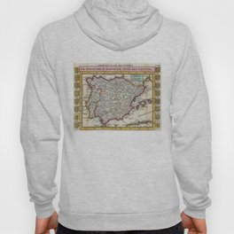 Vintage Map of Spain and Portugal (1747) Hoody
