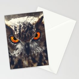 owl look digital painting orcfn Stationery Cards