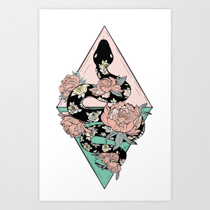 Rose Snake Kunstdrucke
