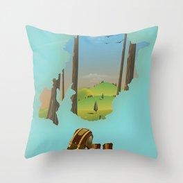 Trossachs Scotland Throw Pillow