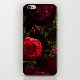Mystical Night Roses iPhone Skin