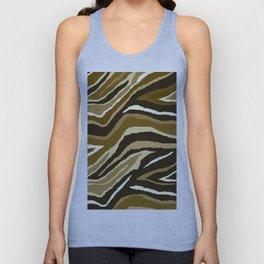 Animal Print Zebra Brown Pattern Unisex Tank Top