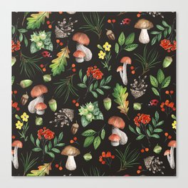 Forest. Brown pattern Canvas Print